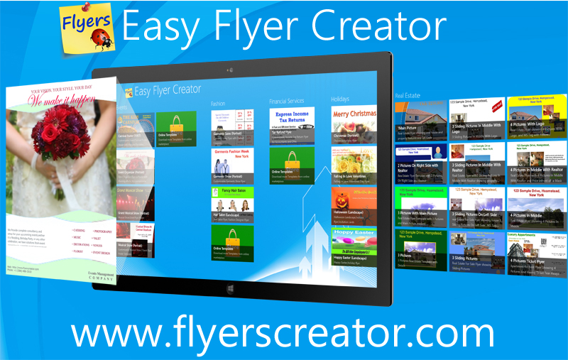 Easy Flyer Creator, Graphic Design Software Screenshot