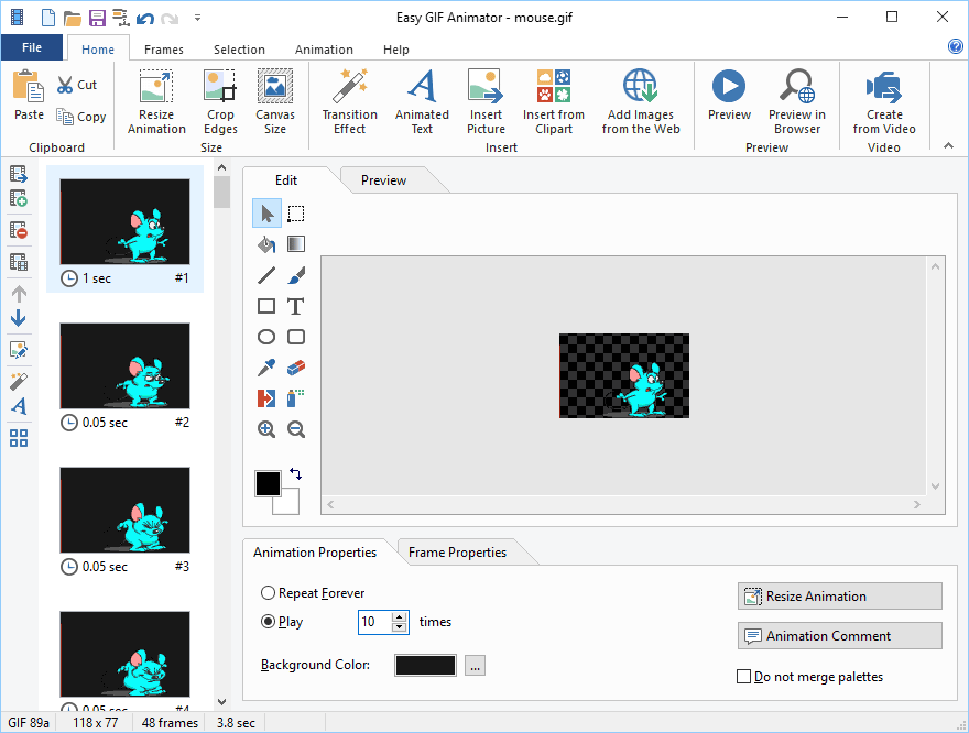 Easy GIF Animator Pro Screenshot