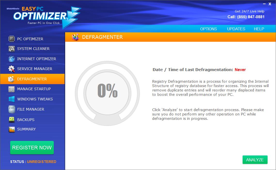 PC Optimization Software, Easy PC Optimizer Screenshot
