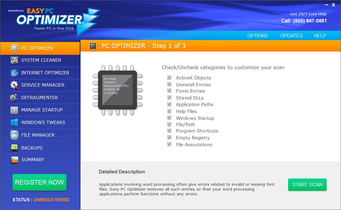 Easy PC Optimizer Screenshot