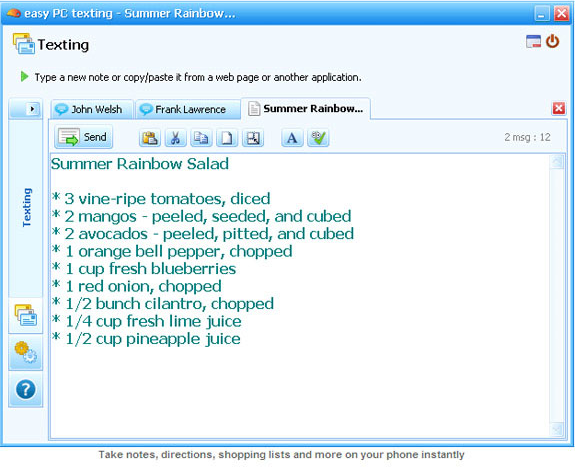 Instant Messaging Computer : Easy pc texting instant messaging software for