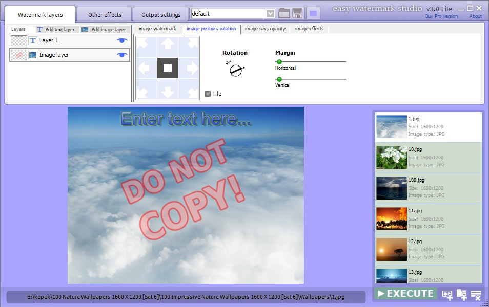 Easy Watermark Studio Pro 3.5 Screenshot