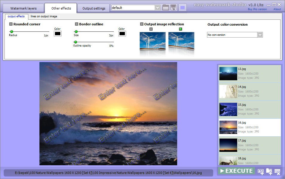 Watermark Software, Easy Watermark Studio Pro 3.5 Screenshot