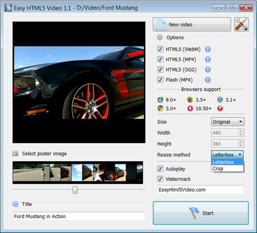 Easy HTML5 Video Unlimited Website License Screenshot