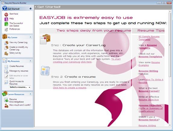 resumes examples sample resume free sample resumes by easyjob sample resume inside best resumes resume sarmsoft - Easyjob Resume Builder