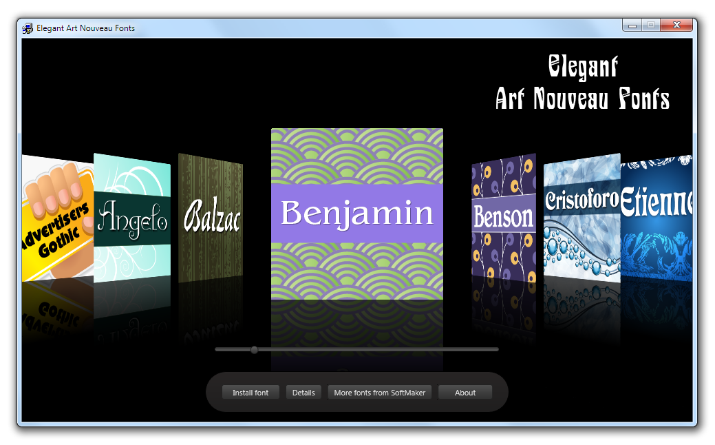 Elegant Art Nouveau Fonts Screenshot