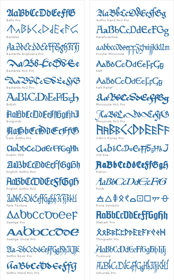 Elegant Mediæval Fonts Screenshot