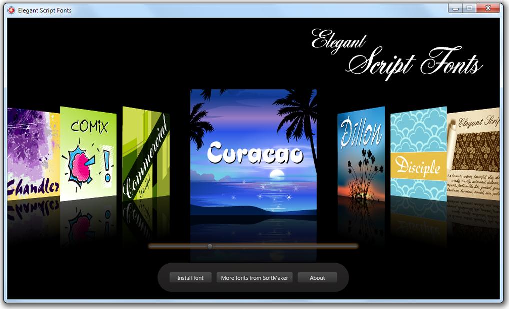 Elegant Script Fonts Screenshot