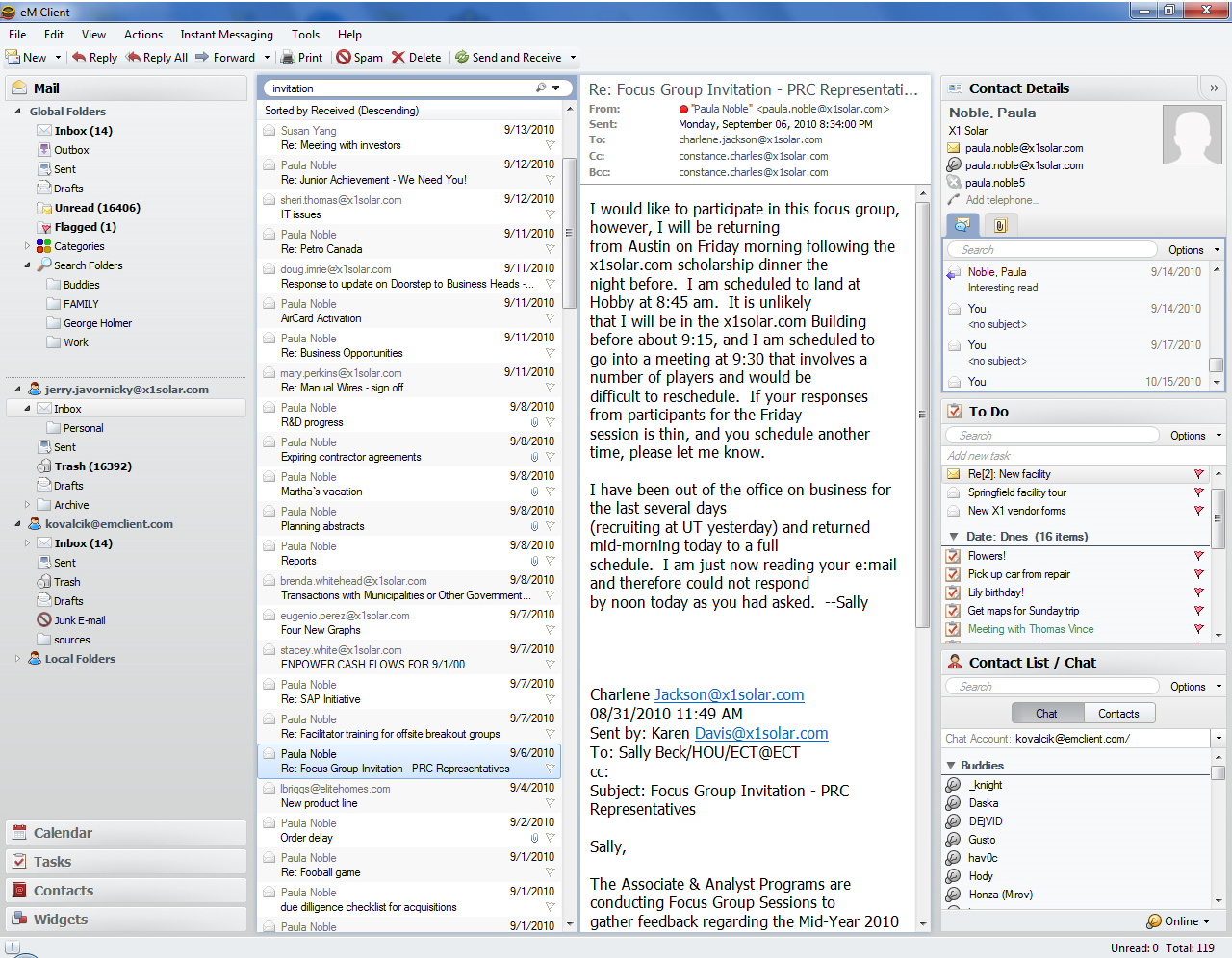 Email Client Software Screenshot