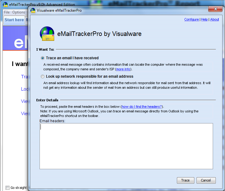 eMailTrackerPro Advanced Edition Screenshot