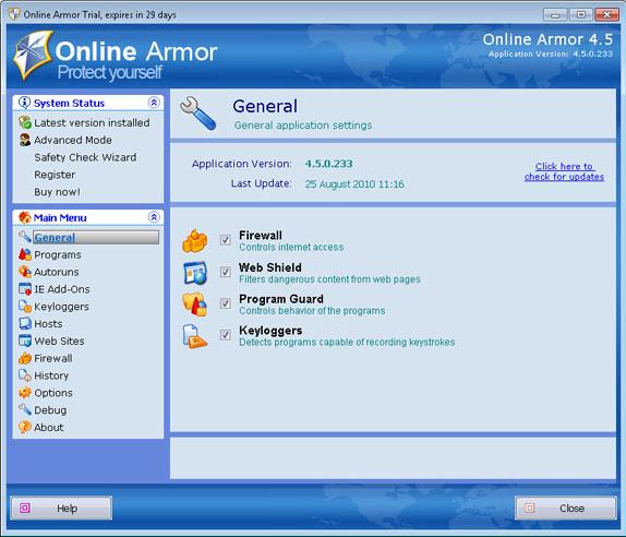 Emsisoft Anti-Malware & Online Armor Firewall Bundle, Antivirus Software Screenshot