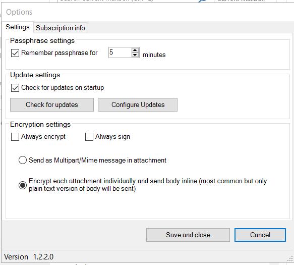 Encryptomatic OpenPGP for Microsoft Outlook Screenshot