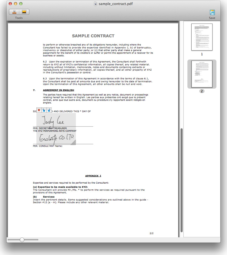 how to add signature to pdf mac