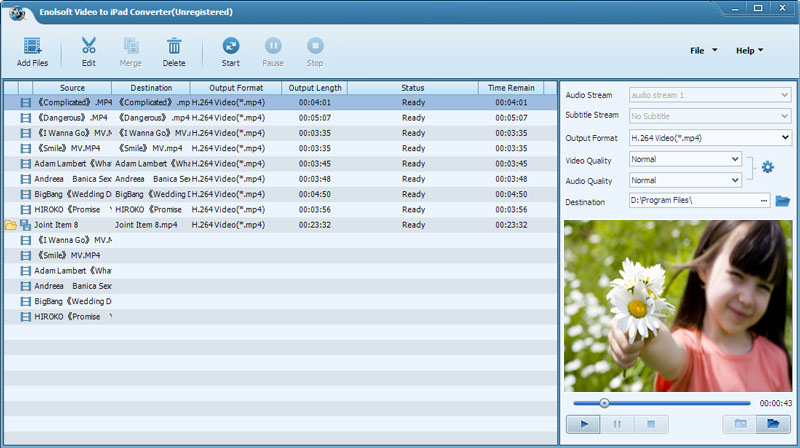 Enolsoft Video to iPad Converter Screenshot