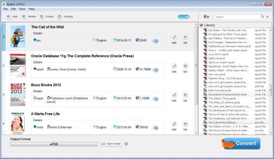eBook Software Screenshot