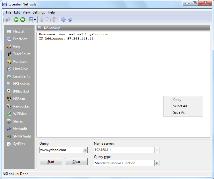 Essential NetTools, Internet Software, Network Software Screenshot