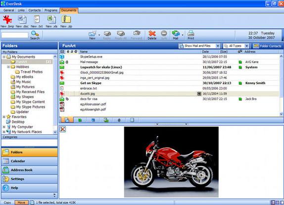 Email Client Software, EverDesk Mail Screenshot