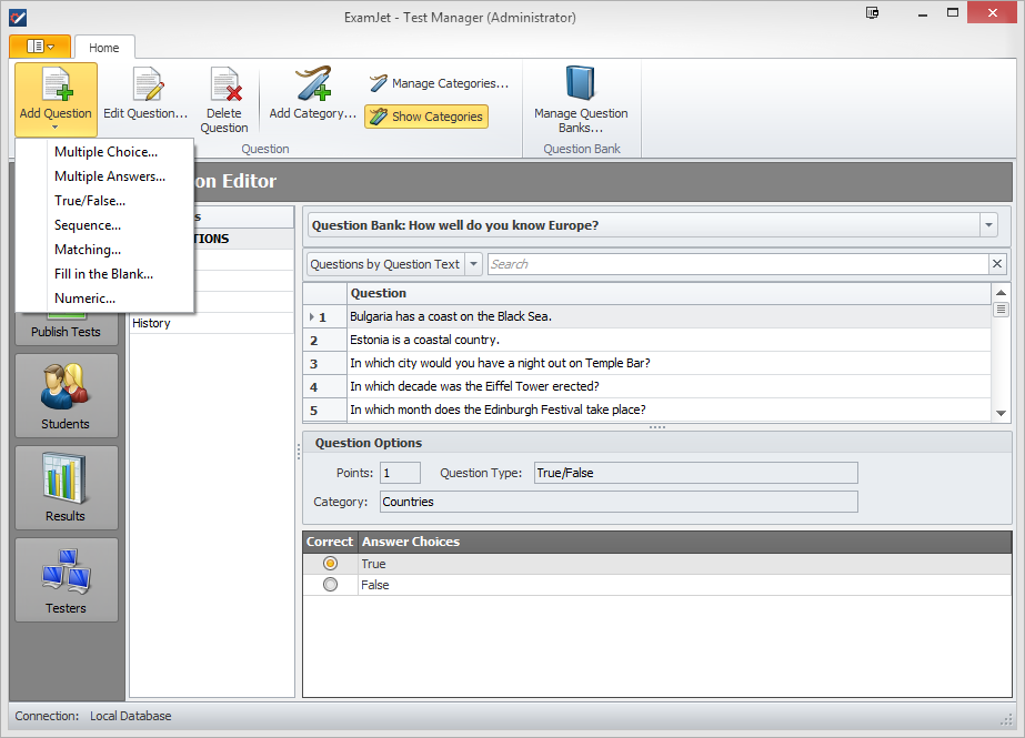 ExamJet Quiz Maker - Professional Edition Screenshot