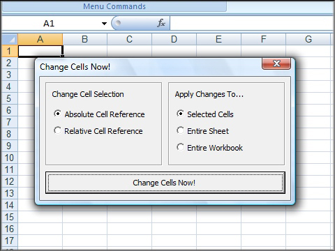 how to change to absolute reference in excel
