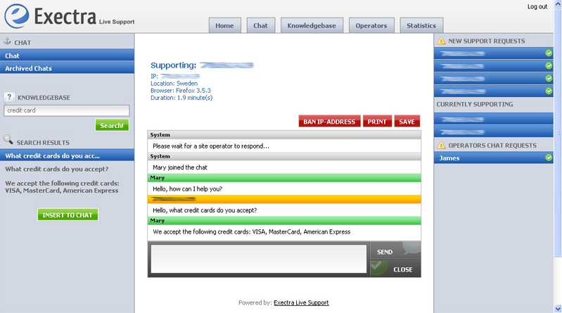 Business Management Software Screenshot