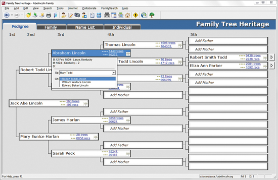 Family Tree Heritage 9 Project Management Software For