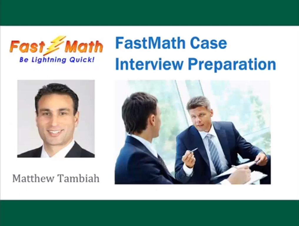 FastMath Case Interview Preparation Screenshot