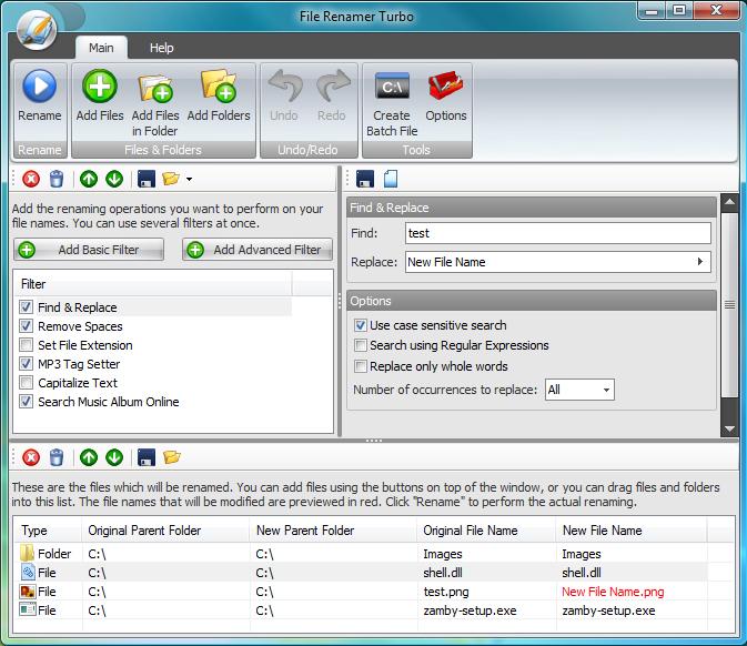 File Renamer Turbo Screenshot