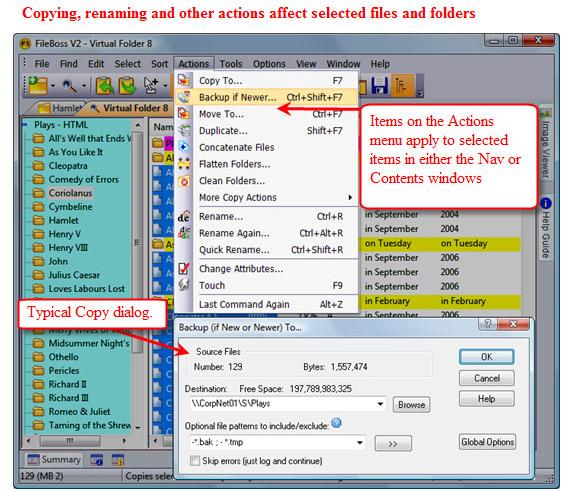 File Management Software, FileBoss Screenshot