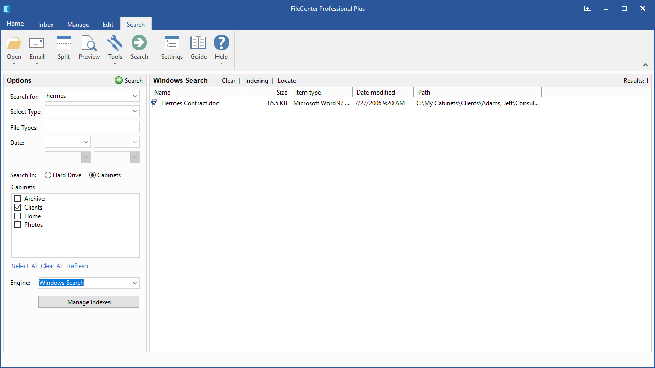 Productivity Software, Document Management Software Screenshot