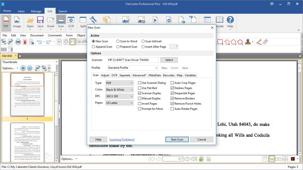 FileCenter, Productivity Software Screenshot