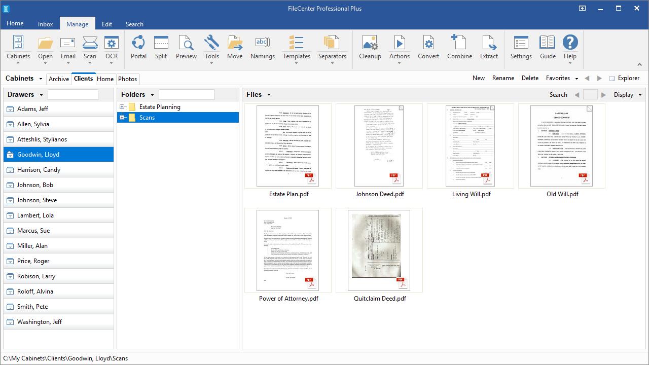 FileCenter, Productivity Software, Document Management Software Screenshot