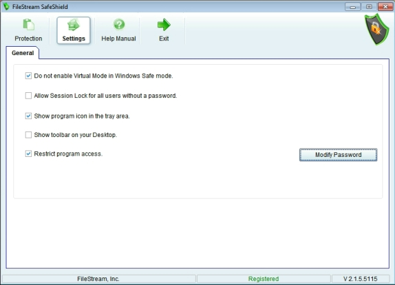 FileStream SafeShield Screenshot