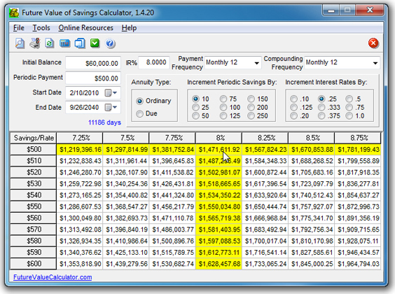 Personal Finance Software Screenshot