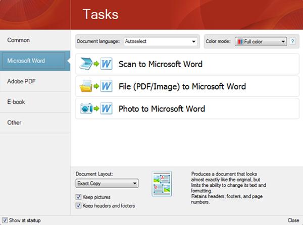 FineReader 11 Professional, Business & Finance Software Screenshot