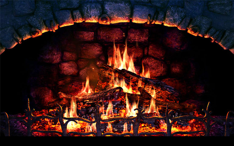 Fireplace Screensaver Screenshot