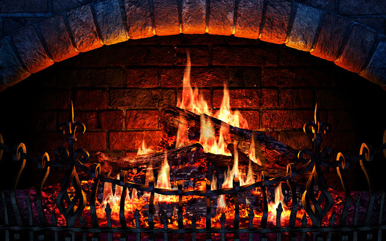 Fireplace Screensaver for Mac & PC. Screensaver Software. Recline By The Fire....