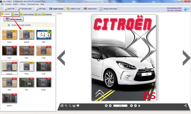 Flip HTML5 Three Months Gold Plan, PDF Conversion Software Screenshot