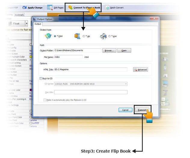 Flip PDF Professional, Cataloging Software Screenshot