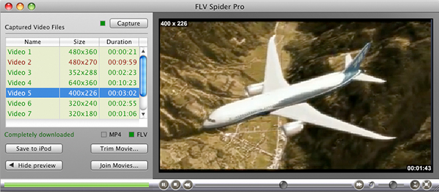 FLV Spider for Mac Screenshot