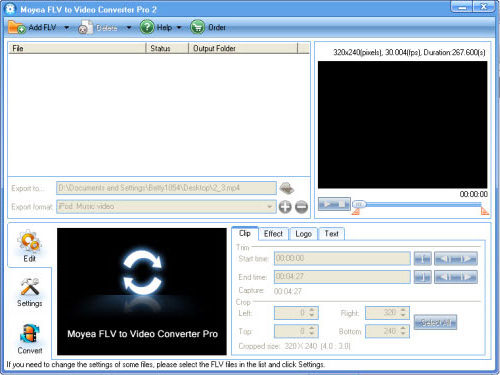 FLV to Video Converter Pro 2 Screenshot