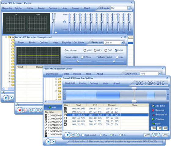 Focus Mp3 Recorder Pro Screenshot