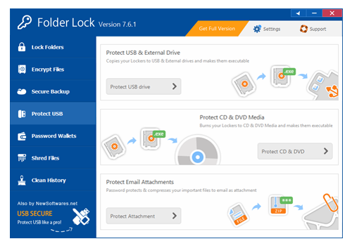 Security Software, Folder Lock Screenshot
