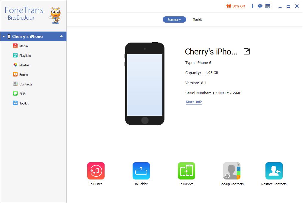 FoneTrans - iOS Transfer Screenshot