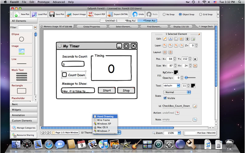 Foreui gui prototyping tool development tools software for Application design tools
