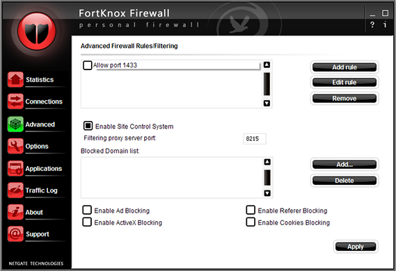 FortKnox Firewall Screenshot