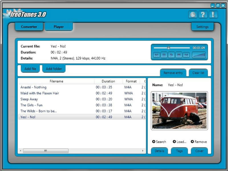 freeTunes 3.0, Audio Conversion Software Screenshot