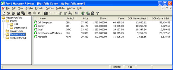 Fund Manager Personal Screenshot