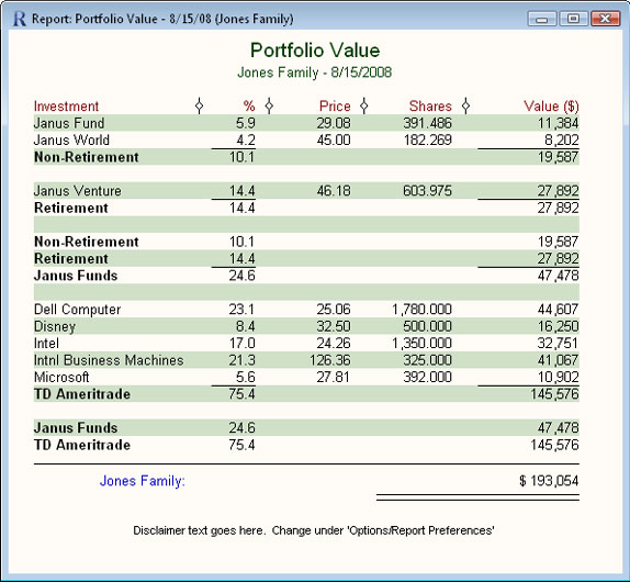 Fund Manager Personal, Business & Finance Software, Portfolio Management Software Screenshot