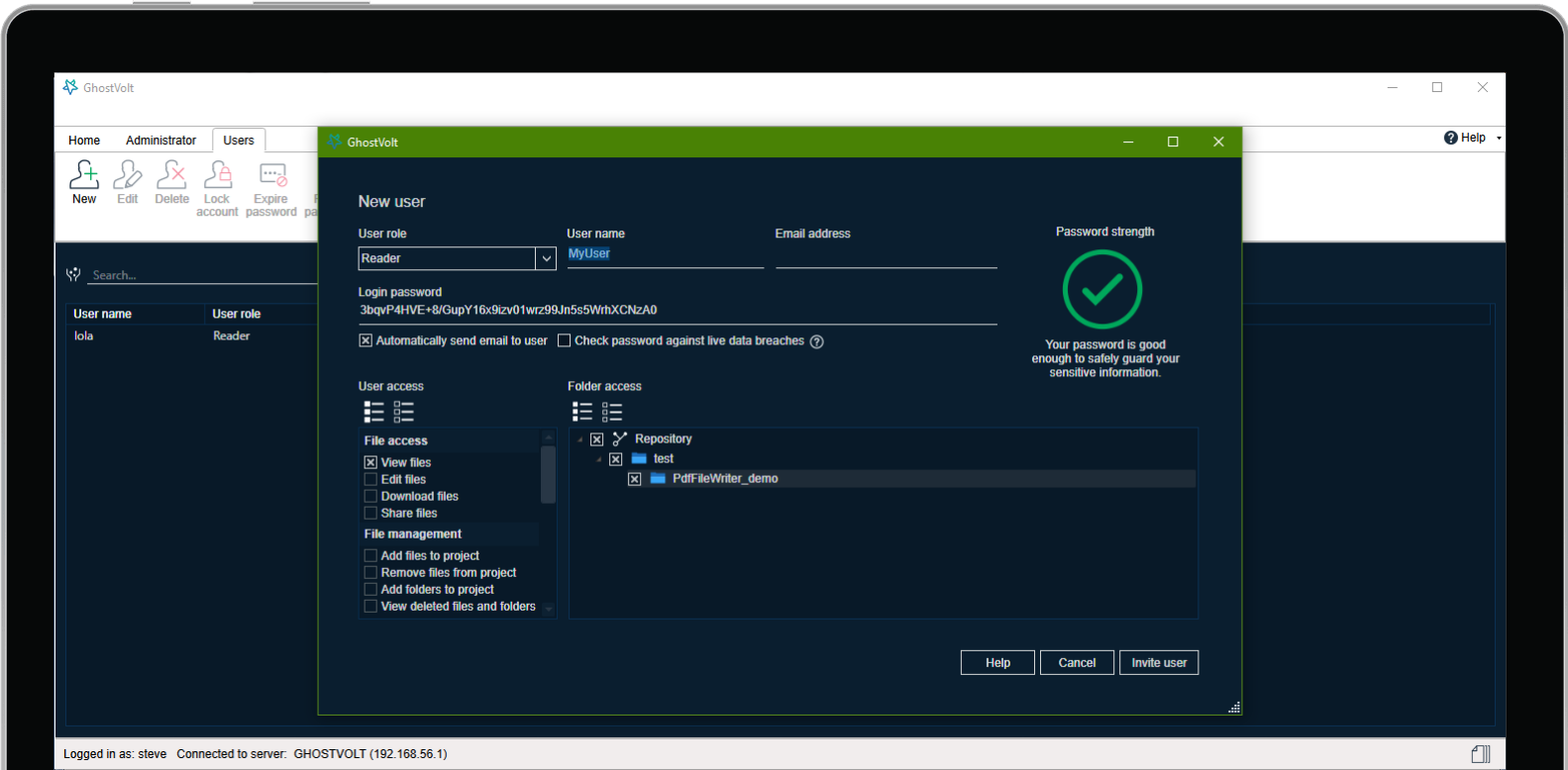 General Security Software Screenshot
