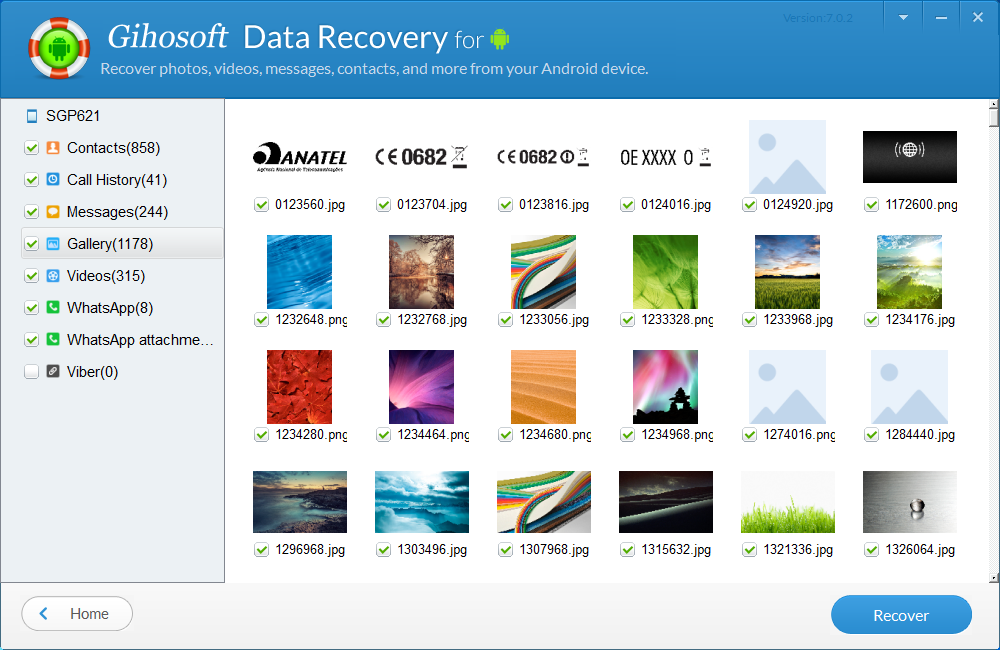 Gihosoft Android Data Recovery Pro, Security Software Screenshot